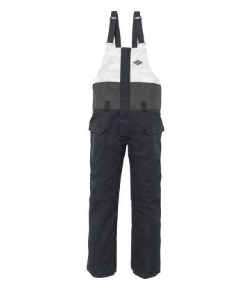 Frontier Bib Pant in black colorblock