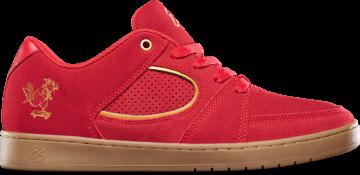ès acel slim skaterat - red/gold