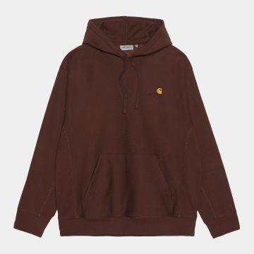 Hooded american script sweatshirt - offroad