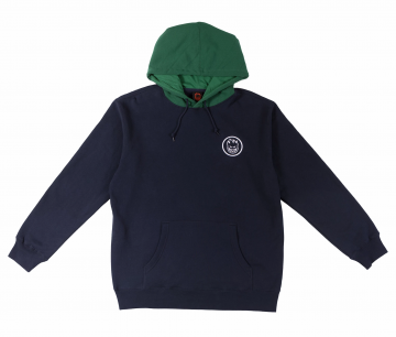 Classic swirl hoodie - deep navy/green