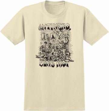 curb riot shirt - cream