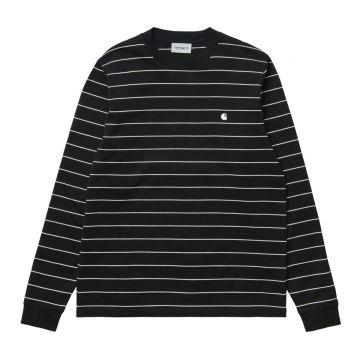 Denton LS Shirt Black/White
