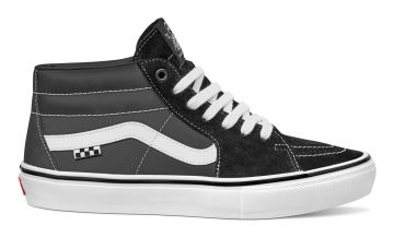 Skate Grosso Mid - black/white/emo leather