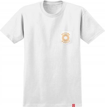 hollow classic shirt - white/orange