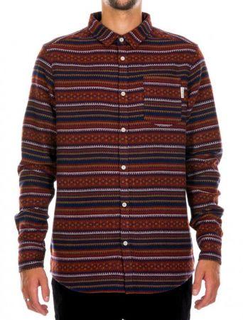 Insito stripe shirt - navy/wine