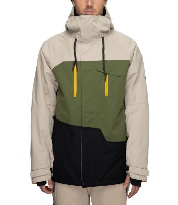 Geo Insulated Jacket in putty colourblock