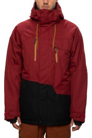 Geo Jacket oxblood colourblock