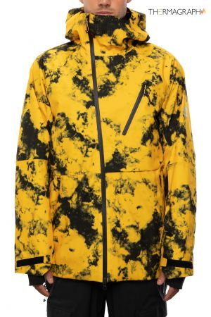 Hydra Thermagraph Jacket sub yellow tie die