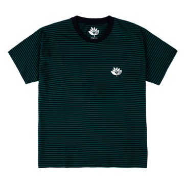 Striped Plant Tee - navy/green