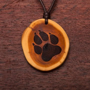 Halskette ab 3 cm Hundepfote