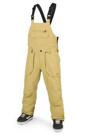 Roan Bib Overall in gold