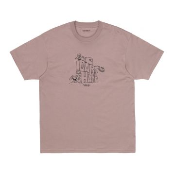 SS Stoneage Shirt - earthy pink/black