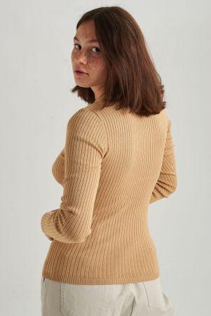 W Strick Pullover - beige
