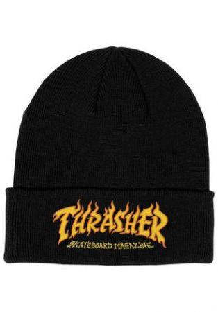 Thrasher Beanie Fire - black